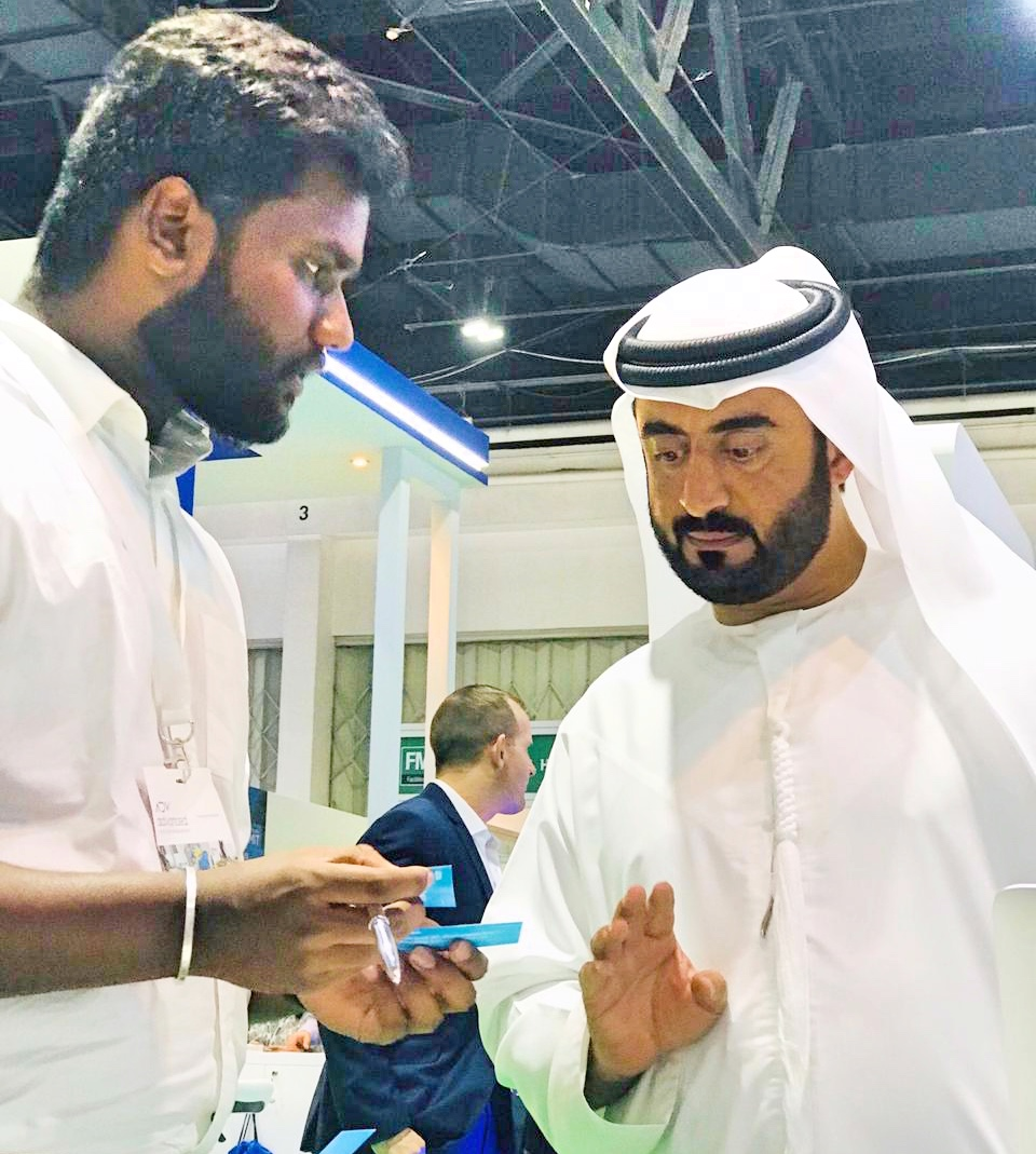 Seikh from Dubai at ADDA Stall FM EXPO 2018