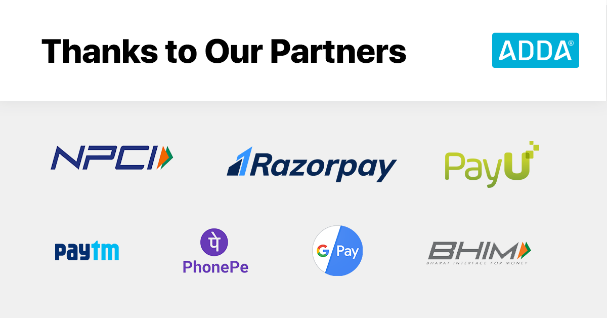 Thanks to NCPI, PayU and Razorpay
