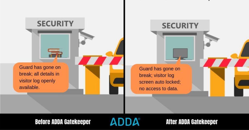 Visitor Screen Lock