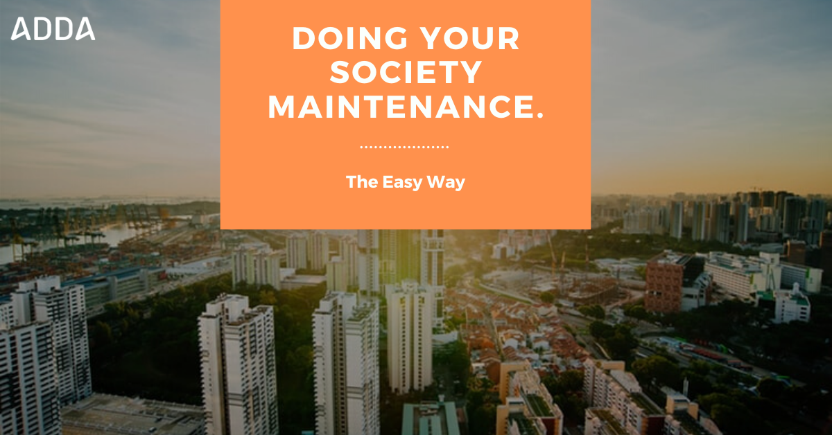 Doing Your Society Maintenance.