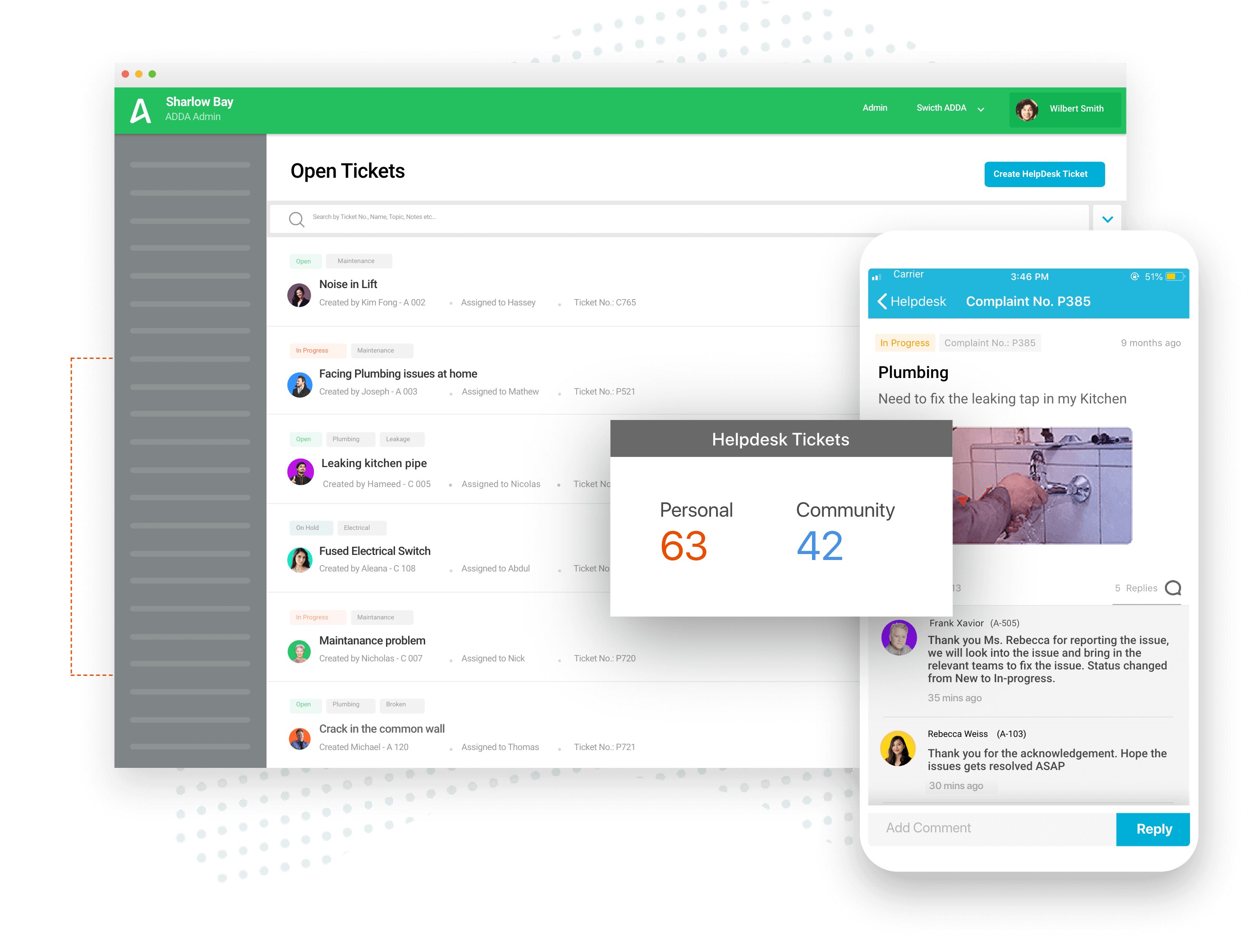 ADDA Helpdesk Tracker