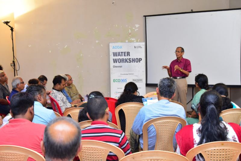 ADDA Water Management Workshop, Chennai, June 2019