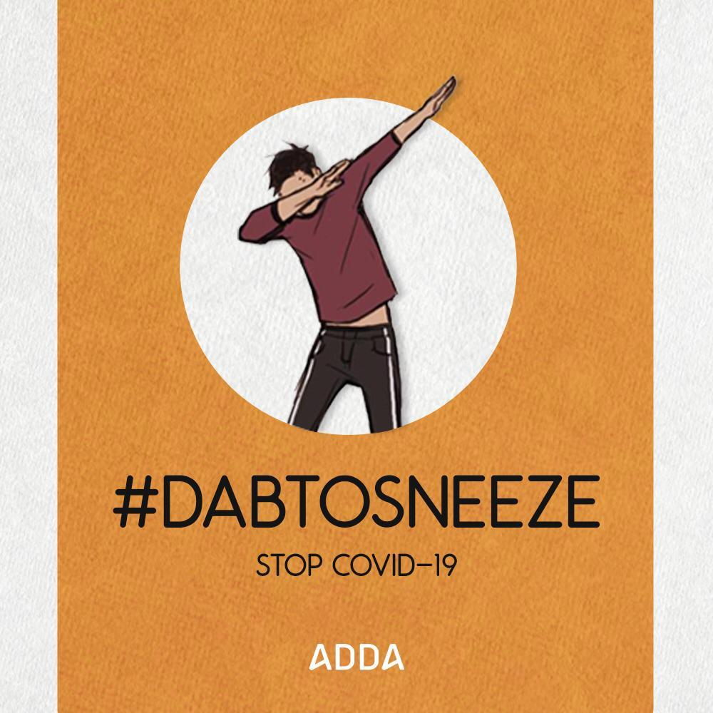 Ask your Kid to Dab to Sneeze. No better preventive way for COVID-19 among kids