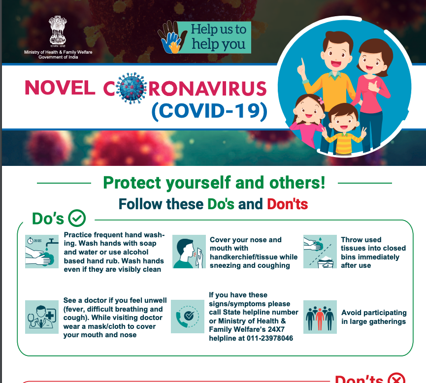 Ministry of Health India - Covid19 poster