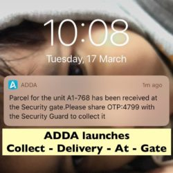 ADDA launches Collect-Delivery-At-Gate at one of the COVID-19 tips to counter Coronavirus in apartment complex