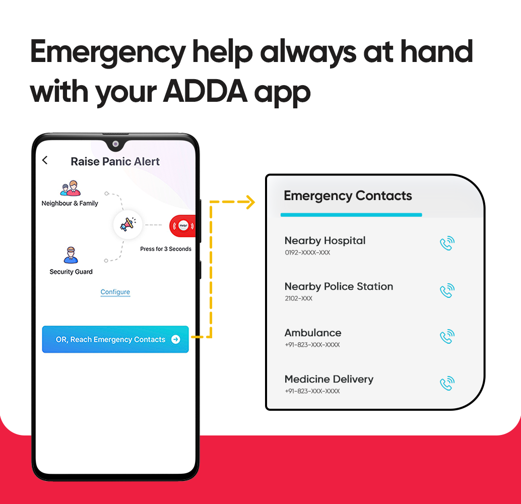 Emergency Contacts : Now Available At Your Fingertips