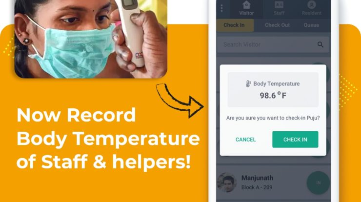 Temperature Check & Record In GateKeeper