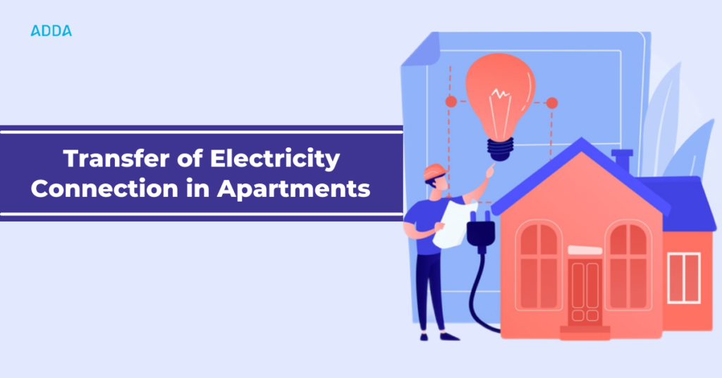 Electricity transfer in apartments
